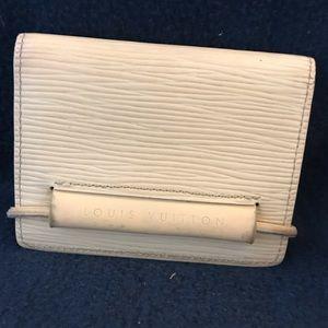 LV Epi Porte-Monnaie Elastique Cardholder Vanilla